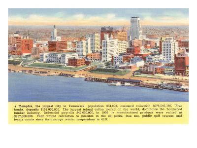 View of Memphis, Tennessee, with Facts