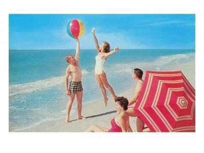 Playing with the Beach Ball