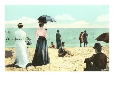 Old Fashioned Beach Scene