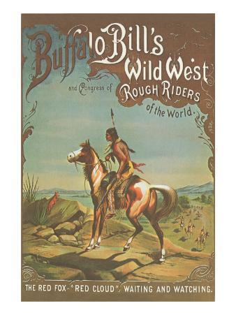 Buffalo Bill's Wild West Show Poster, Indian Brave