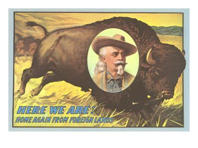 Buffalo Bill Picture Imposed on Bison
