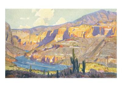 Painting of Canyon Lands