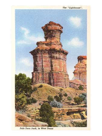 The Lighthouse Rock, Palo Duro Park, Texas