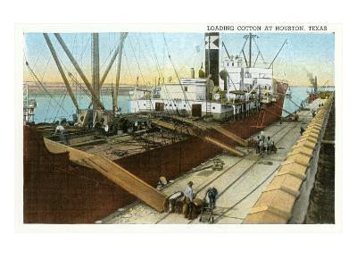Loading Cotton on Ship, Houston, Texas