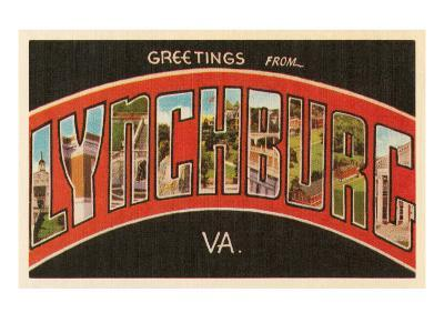 Greetings from Lynchburg, Virginia