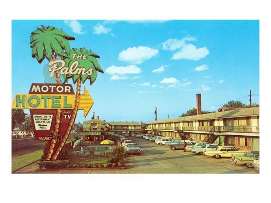 The Palms Motor Hotel Vintage Motel Posters At Allposters Com
