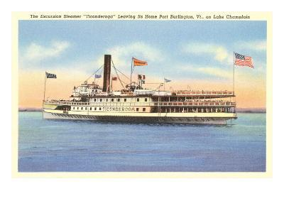 Excursion Steamer on Lake Champlain, Vermont