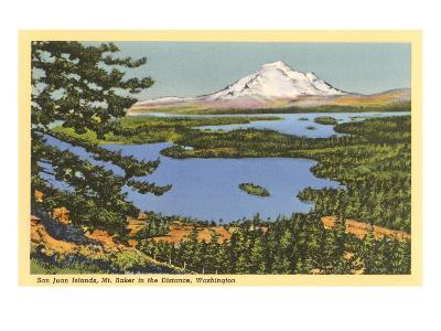 San Juan Islands, Mt. Baker, Washington