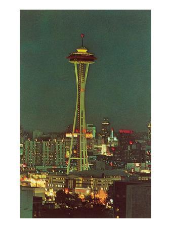 Night, Space Needle, Seattle, Washington