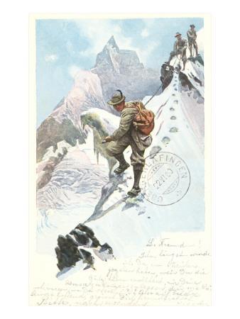 Mountain Climbing in the Alps