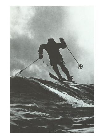 Aggressive Downhill Skier