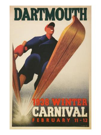 Skier, Dartmouth Winter Carnival