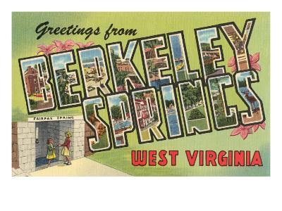 Greetings from Berkeley Springs, West Virginia