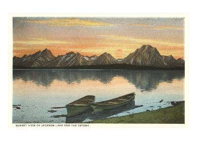Jackson Lake and Tetons, Wyoming