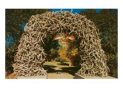Antler Arch into Jackson Hole, Wyoming