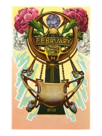 Art Nouveau February, Pisces