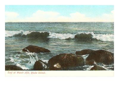 Surf at Watch Hill, Rhode Island