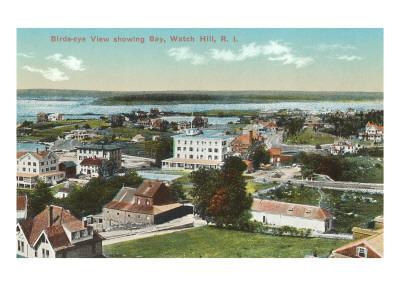 View over Watch Hill, Rhode Island