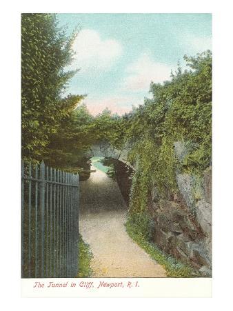 Tunnel in Cliff Walk, Newport, Rhode Island