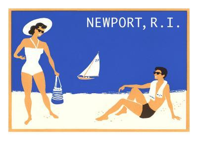 Newport, Rhode Island, Couple on Beach