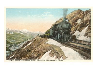Locomotive on Continental Divide