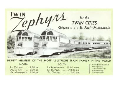 Twin Zephyrs, Trains in Midwest