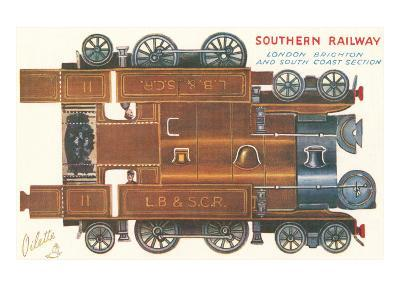 Cut-out Model of Locomotive