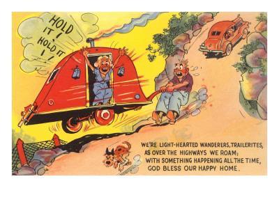 Travel Trailer Cartoon