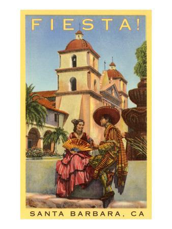 Poster for Fiesta Days, Santa Barbara, California