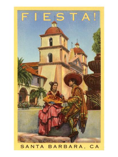 Poster For Fiesta Days Santa Barbara California Poster