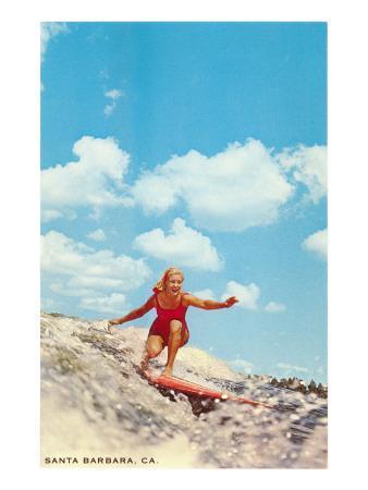 Girl Surfing, Santa Barbara, California