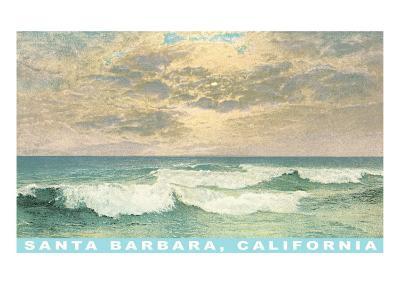 Waves at Santa Barbara, California