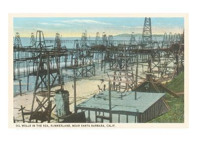 Oil Wells, Santa Barbara, California