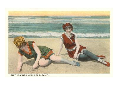 Bathers on the Beach, San Diego, California