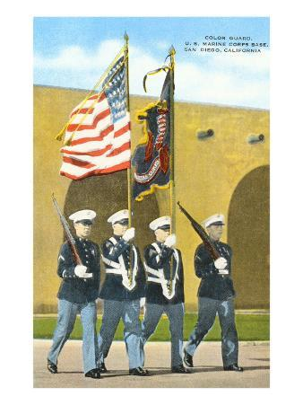 Marine Color Guard, San Diego, California