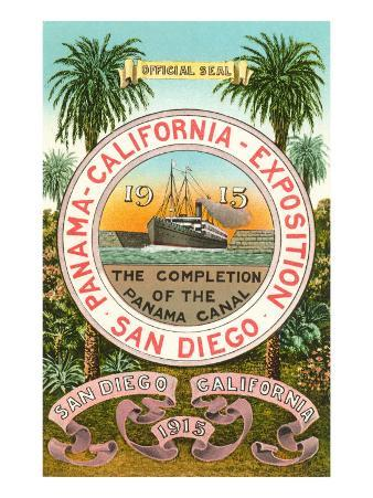 Seal of the 1915 Exposition, San Diego, California