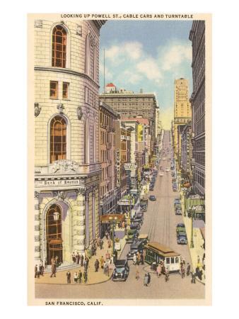 Powell Street, Cable Cars, San Francisco, California
