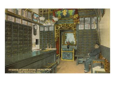 Interior, Drug Store, Chinatown, San Francisco, California