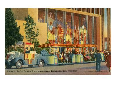 San Francisco World's Fair, Elephant Train