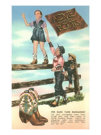 Advertisement for Children's Cowboy Boots