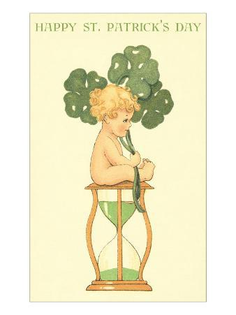 Happy St. Patrick's Day, Baby on Hourglass