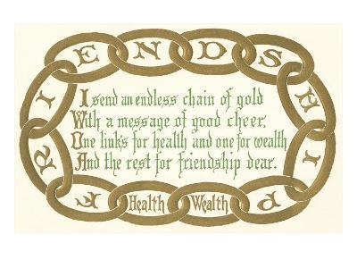 Chain of Friendship, Rhyme