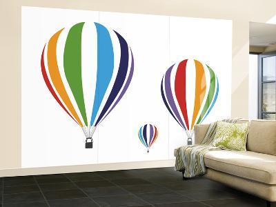 Rainbow Hot Air Balloons