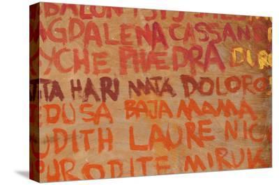 Words in Graffiti Written on Concrete Wall