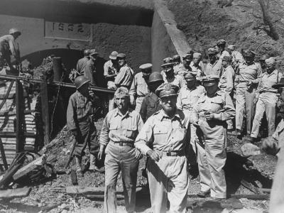 General Douglas Macarthur and Other Officers