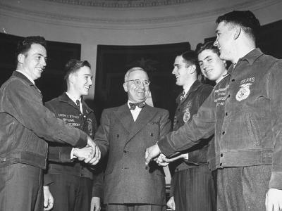 President Harry S. Truman Greeting Members of the Future Farmers of America