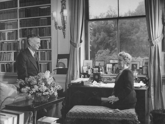 Lord William Waldorf Astor Visits with His Wife, Lady Nancy Astor ...