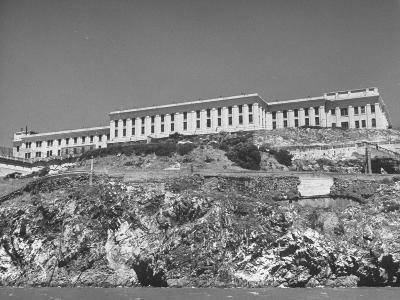 Exterior View of Alcatraz During Prison Riots