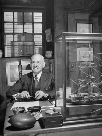 Allan Forbes, President of the State Street Trust Corporation, Sitting in His Office