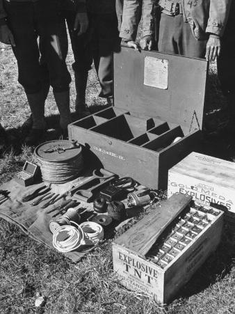 Close-Up of Box of Equipment for Scorched Earth Work